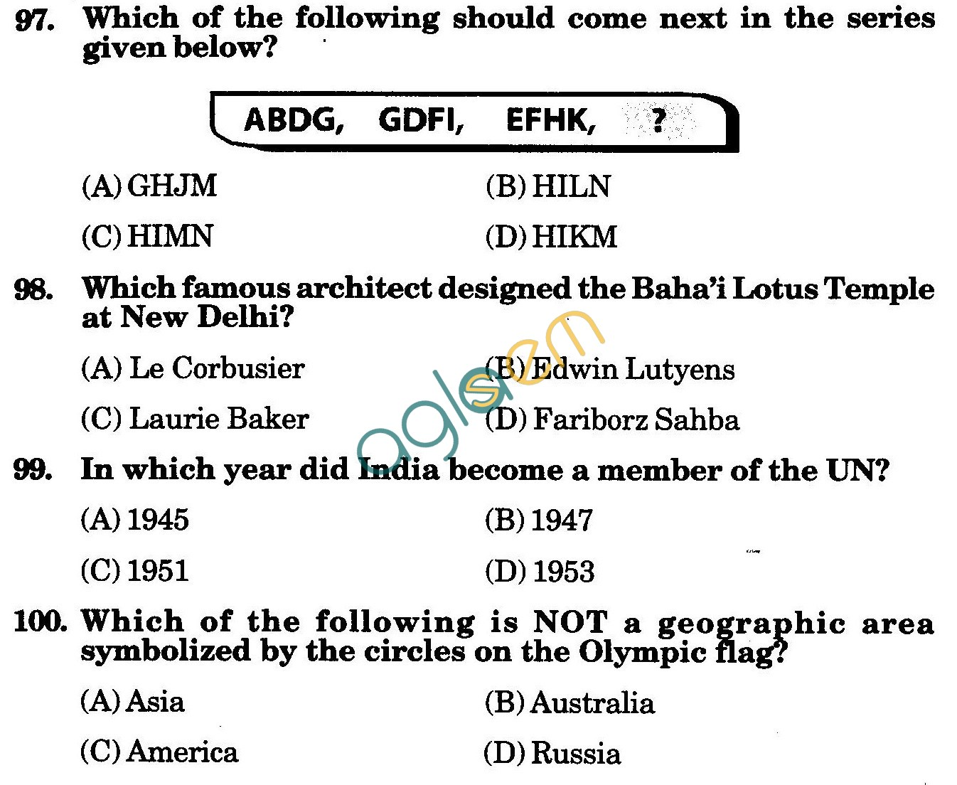 NSTSE 2010 Solved Question Paper for Class IX