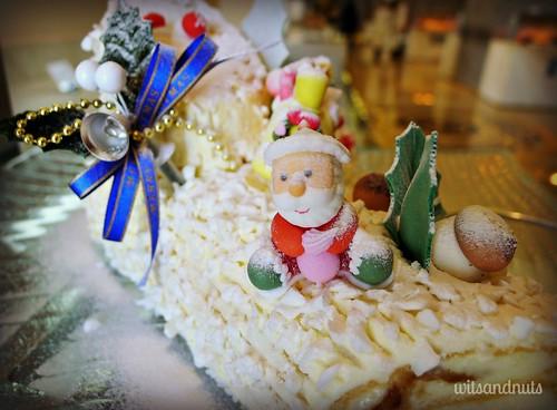 Santa Claus on cake