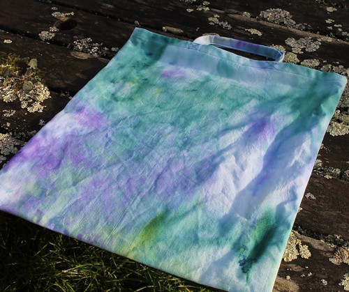 snow dyed shopping bag