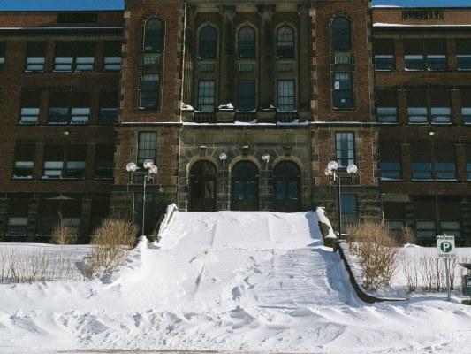 Snowy Steps on Saint John High