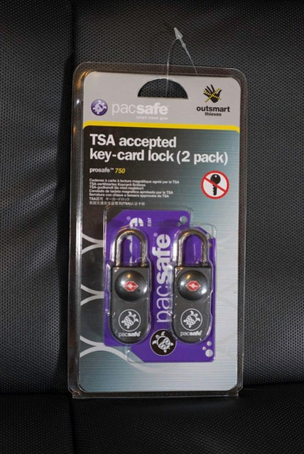 pacsafe TSA accepted key-card lock (2 pack)