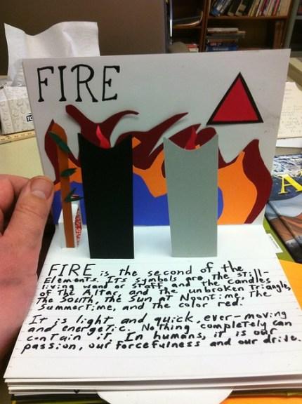 Elemental Pop-up book: Fire