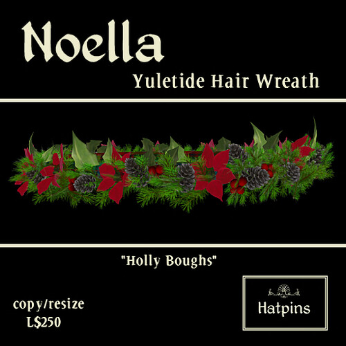 Noella Hair Wreath - Holly Boughs (copy_mod)