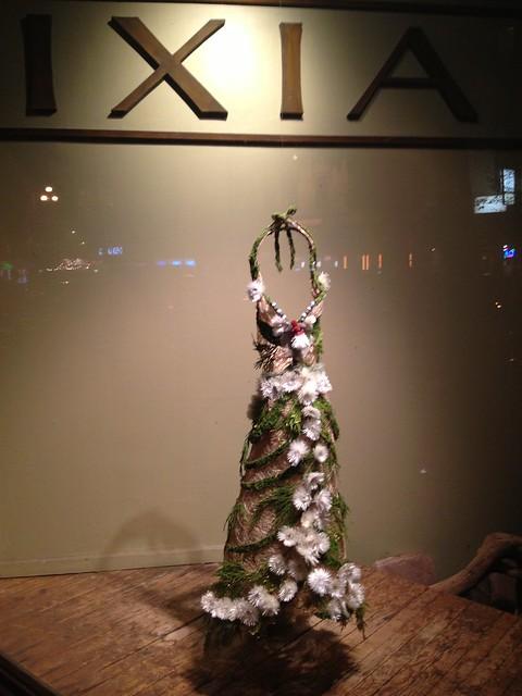 Floral dress window disply, IXIA