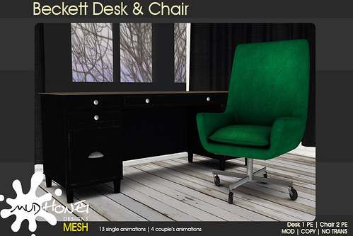 mudhoney beckett desk & chair
