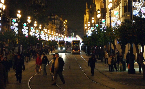 Navidad en el centro de Sevilla