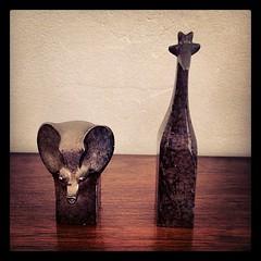 Gunnar Cyren elephant and giraffe for Dansk Designs
