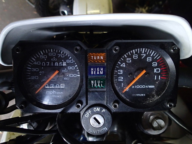 Mileage on the DR350 on January 1, 2013: 7188.9