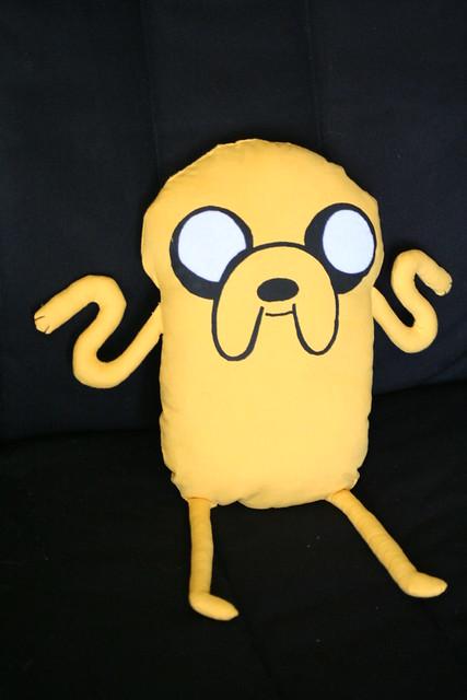 Handmade Plush Jake from Adventure Time