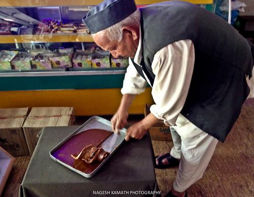Choklate being prepared by Bishtji