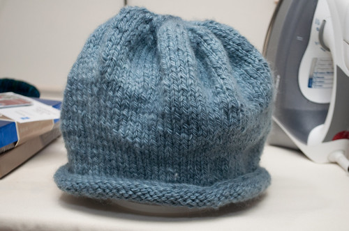 Handspun hat for mom.