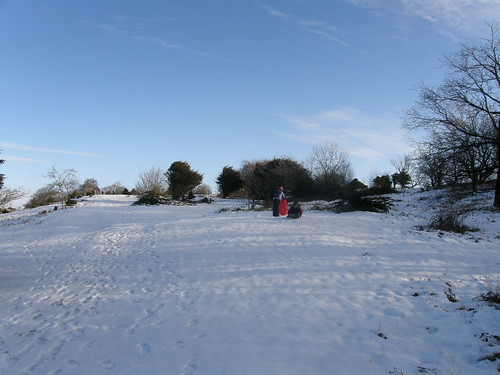 Another icy sledging run