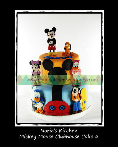 Norie's Kitchen - Mickey Mouse Clubhouse Cake 6 by Norie's Kitchen