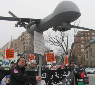 Protesting Drones at Obama's Inauguration