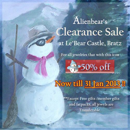 Alienbear's 2012 clearence sale