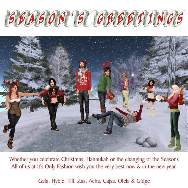 Season's Greetings from It's Only Fashion