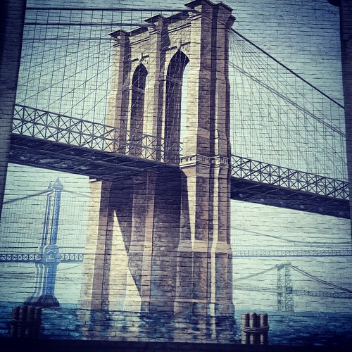 New York City, Brooklyn Bridge, Wall Painting by The Main Street Analyst