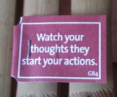 Watch your thoughts. They start your actions by Nitjorn