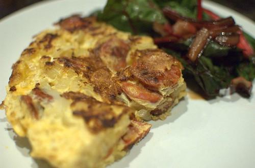 Chorizo & cassava tortilla