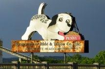Retro Penny Birmingham Al Dog Sign