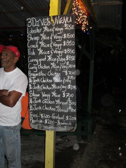 3 Dives menu