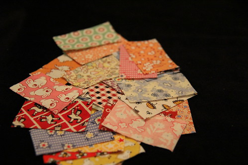 Charm coins fabric pieces