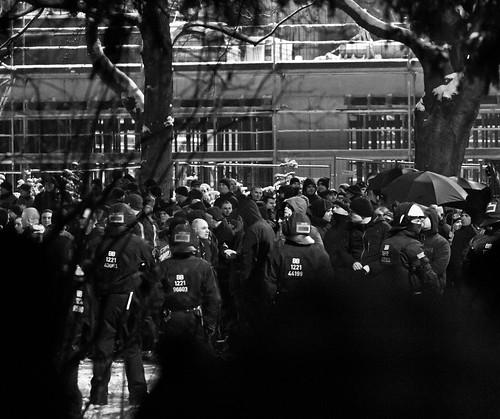13 februar 2013 neonazidemonstration Parkstraße