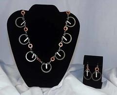 reClaim Collar and earrings