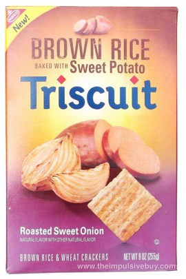 Nabisco Roasted Sweet Onion Brown Rice Baked With Sweet Potato Triscuit
