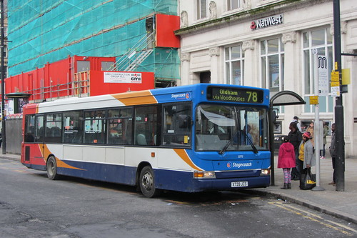 Dennis Dart SLF, Stagecoach Manchester X739 JCS, Piccadilly Gardens, Manchester