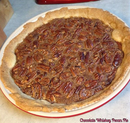 Chocolate Whiskey Pecan Pie