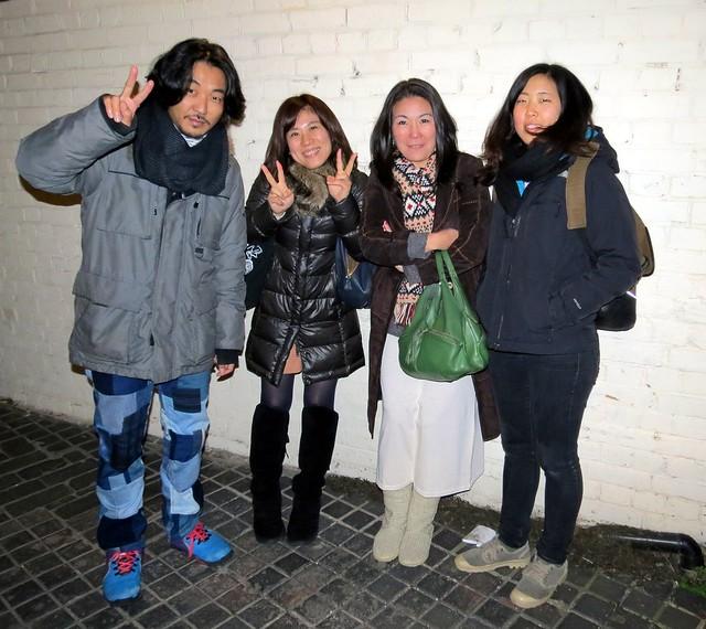 (L-R) Kogame-san, Hitomi-san, Suhara-san, Rina-san