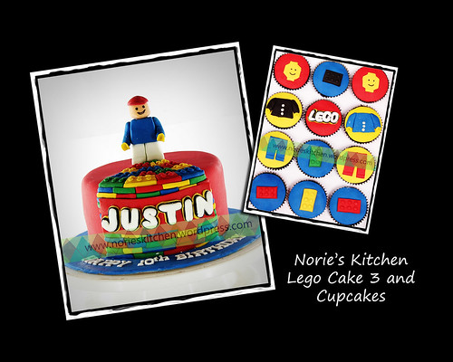 Norie's Kitchen - Lego Cake 3 and Cupcakes by Norie's Kitchen