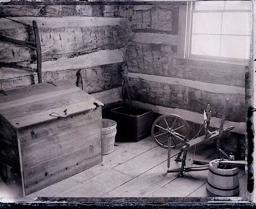 Interior of Log Cabin, Troy, Michigan