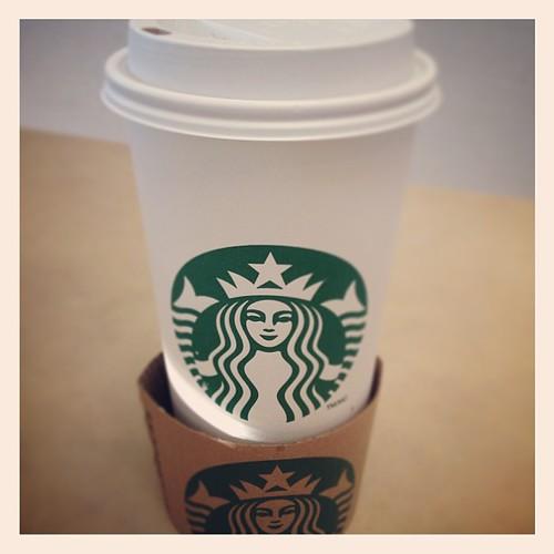 Feb 20 - indulgence {my morning coffee} #photoaday #starbucks #coffee