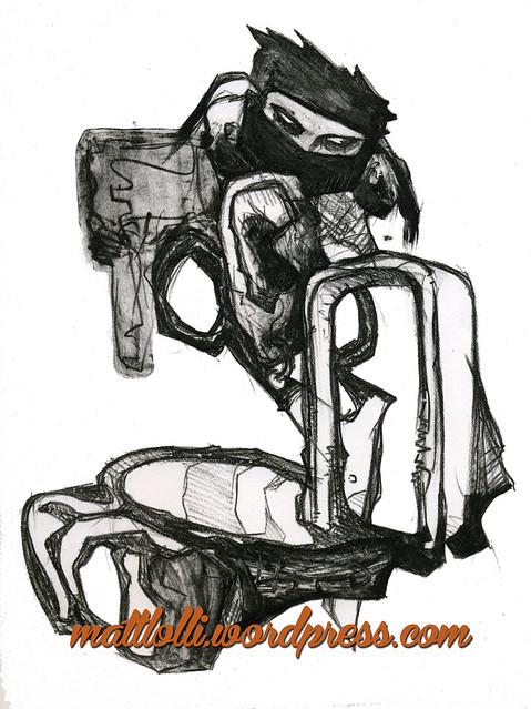 Matt Lolli Illustration Ninja Monkeys
