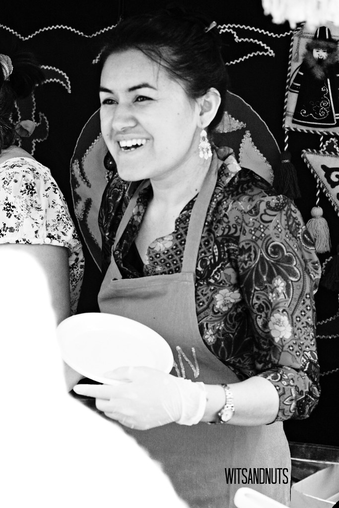 Pretty gal from Kazakhstan; Asian Food Fair