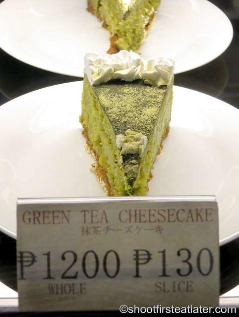 Akiba Cafe- green tea cheesecake P130