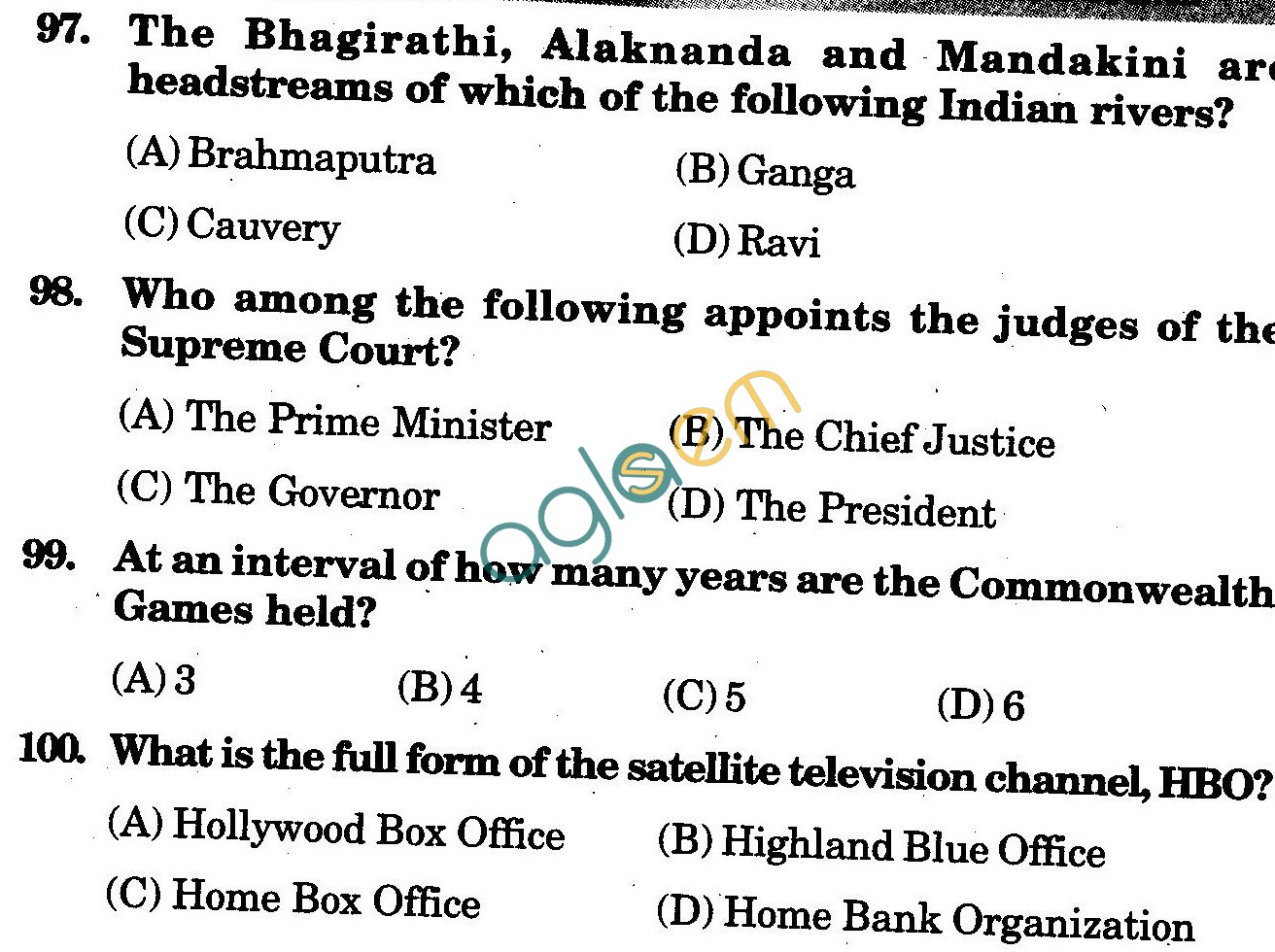 NSTSE 2010 Solved Question Paper for Class VI