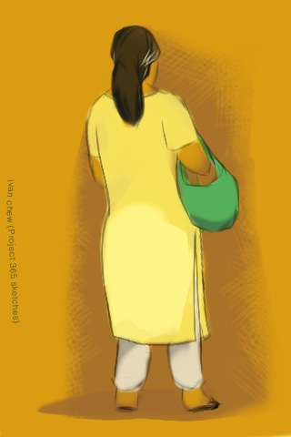 "28 - ""Green Handbag"" (#59: Project 365 Sketches)"