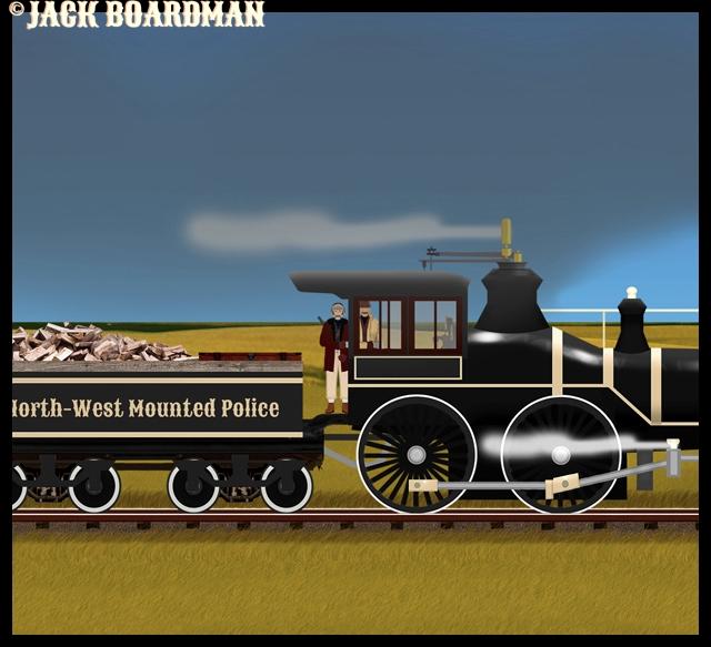 In the locomotve of the stolen NWNP train