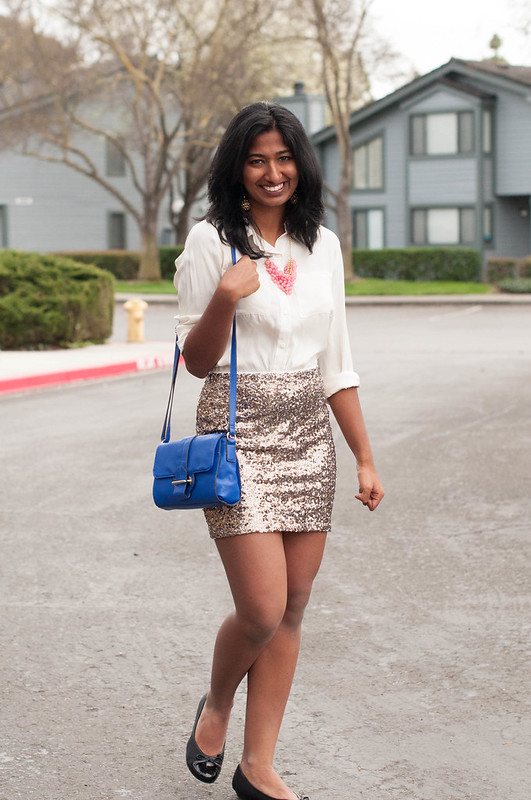 How to wear a Sequin Skirt-2