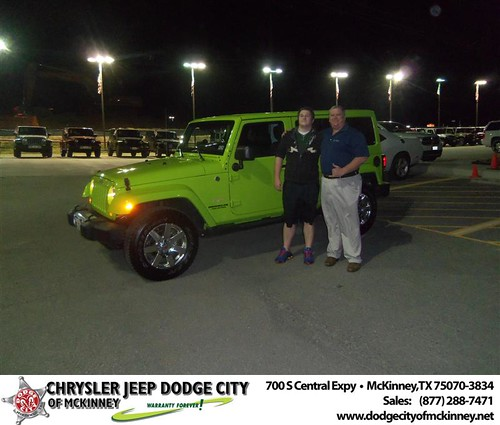 Congratulations to Donald George on the 2012 Jeep Wrangler by Dodge City McKinney Texas