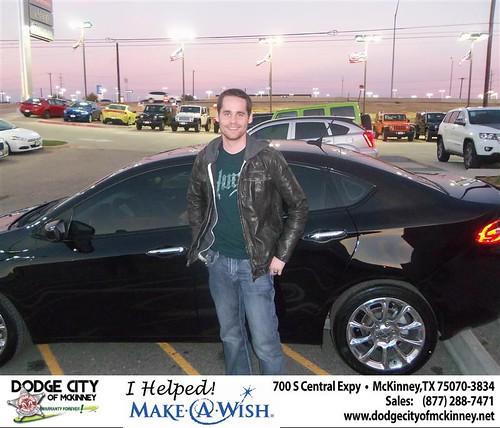 Congratulations to Kyle Godfrey on the 2013 Dodge Dart by Dodge City McKinney Texas