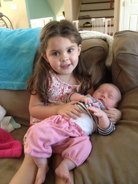 Annie holding Baby Cait