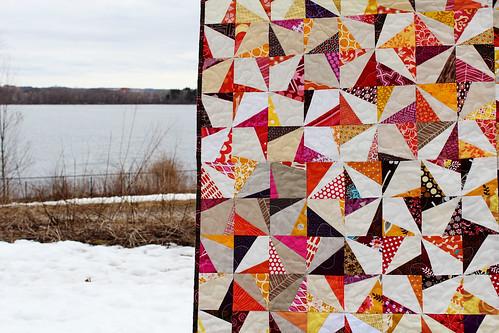 wonky pinwheel quilt