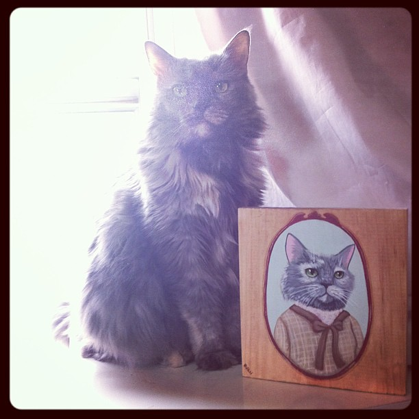 Dahlia with her portrait