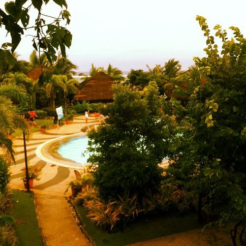Peek of the pool in Puerto del Sol #iPhone