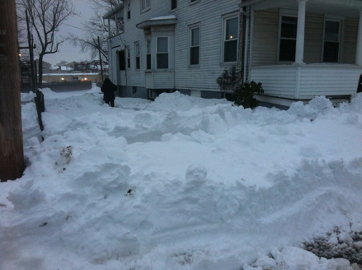 Photos from a blizzard