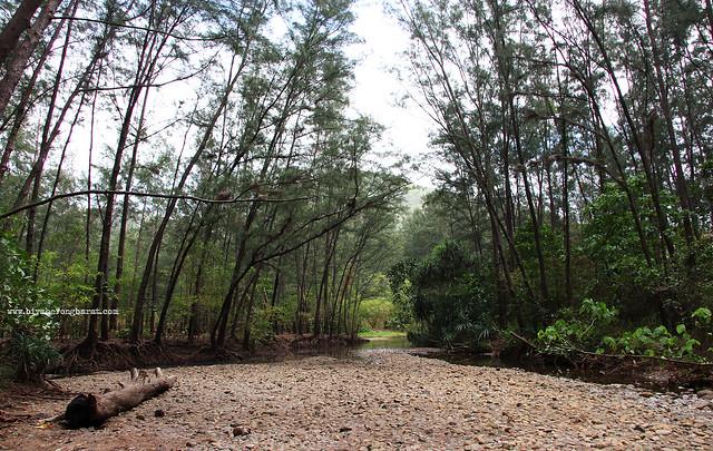 River in Anawangin Cove San Antonio Zambales